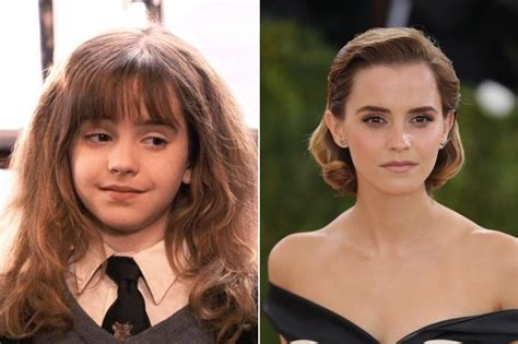 emma watson then and now emma watson hermione granger then and now the cast of