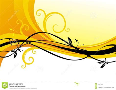 yellow design yellow design with curls royalty free stock photos image 3123128
