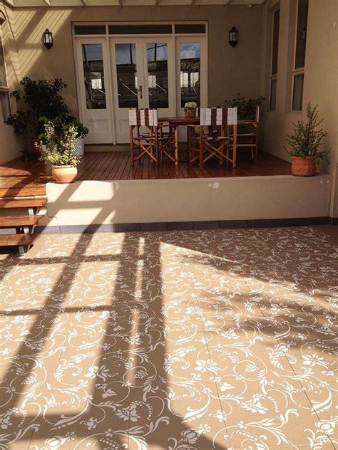 flourish allover wall stencil paint concrete floors
