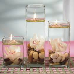 Set Of 3 Cylinder Vases Cheap Wedding Centerpieces Floating Candle Design Bookmark 10741