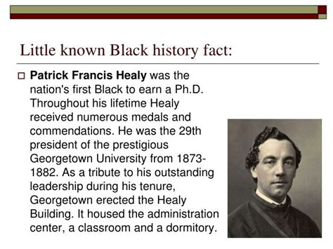 biography black history facts ppt little known black history fact powerpoint
