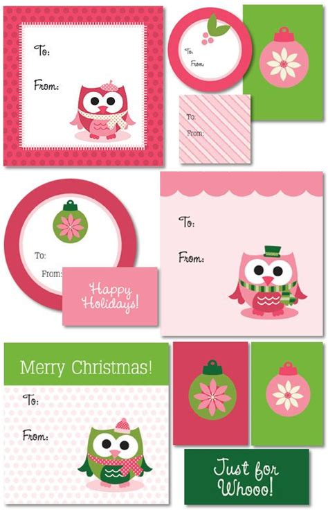 printable owl labels free printable holiday gift tags owls printable tags