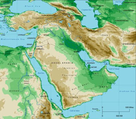 middle east map deserts location deserts