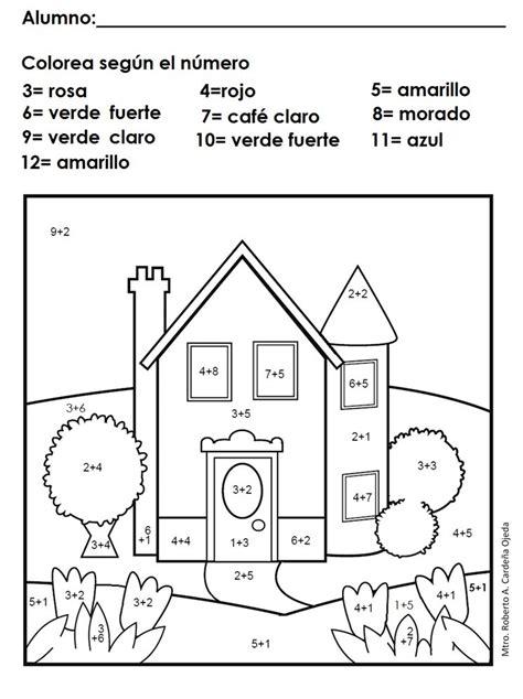 sumas y restas para ninos de primer grado matem 225 ticas sumas dibujos para pintar con sumas primer
