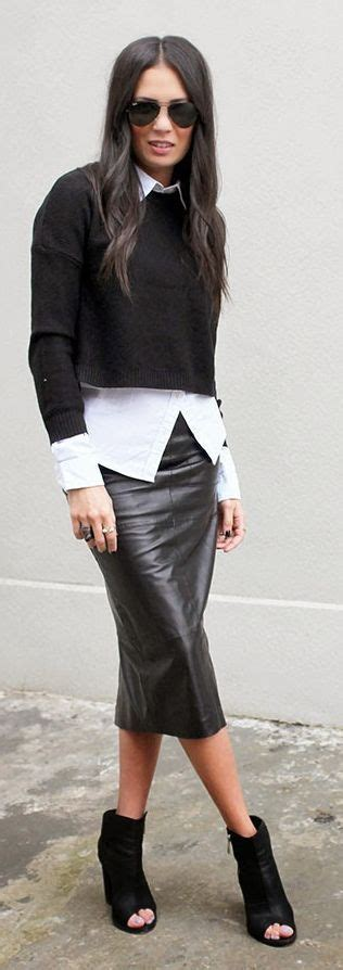 how to wear a pencil skirt casually 24