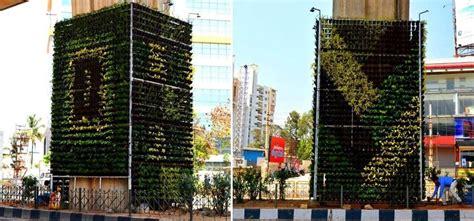bengaluru gets its vertical garden to reduce pollution