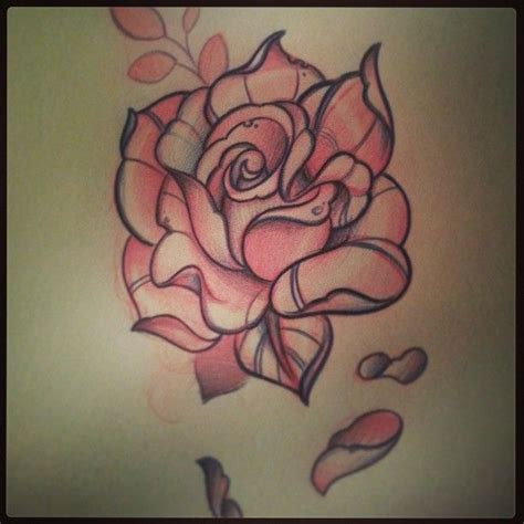tattoo new rose nice sketch of traditional rose tattoo 3 golfian com