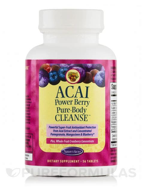 Acai Berry Detox Tablets by Acai Power Berry Cleanse 56 Tablets