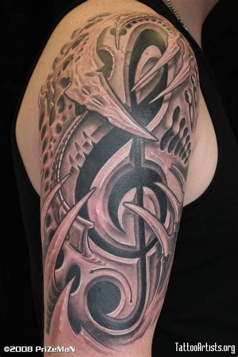 musical half sleeve tattoo designs biomechanical tattoos and designs page 10