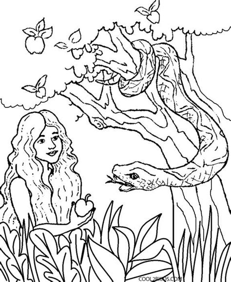 printable adam  eve coloring pages  kids