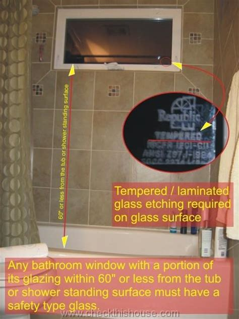 Windows In Bathrooms Regulations by Bathroom Window Safety Glass Tempered Glass In Bathrooms