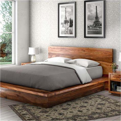 delaware king size solid wood platform bed frame