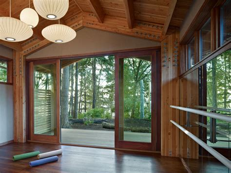 design home yoga studio yoga studio modern home gym seattle by shks architects