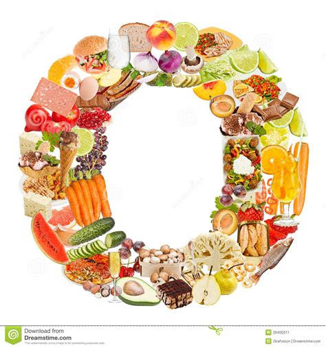 up letter with food letter o made of food stock image image 26400311