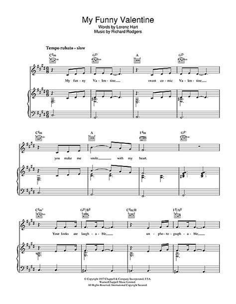 my funny valentine partition par elvis costello piano