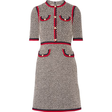 gucci grosgrain trimmed tweed mini dress kate middleton