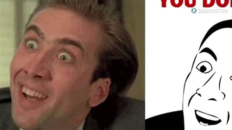 Nicolas Cage Meme Face - nicholas cage makes fun of his own internet memes youtube