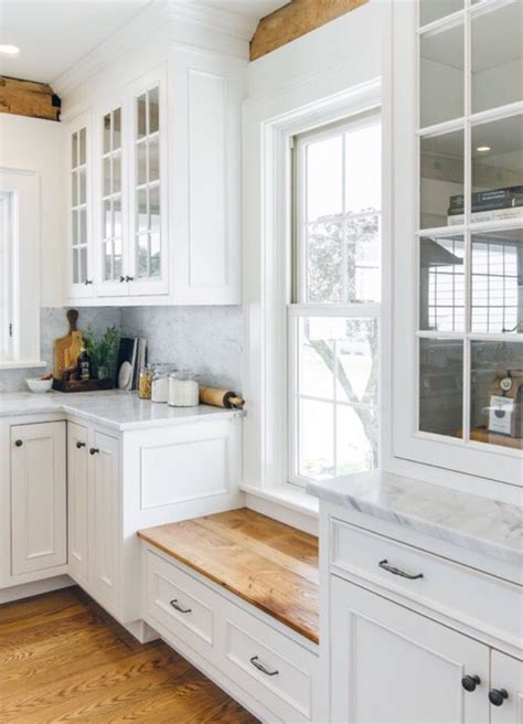 Kitchen Cabinets Around Windows The Window Seat Low Window To Keep Cabinets Going Farmhouse Kitchen By The Working