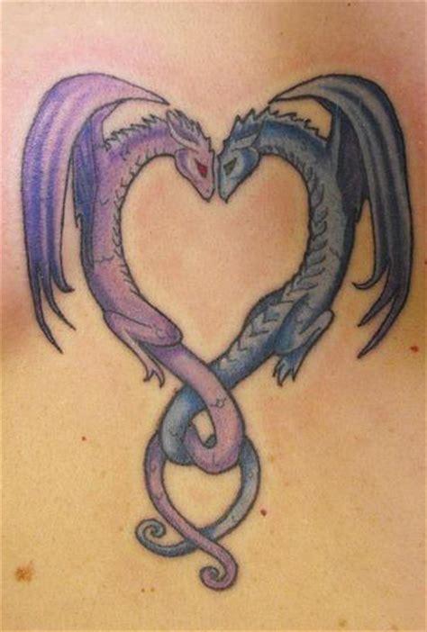 due draghi cuore tatuaggio tattooimages biz