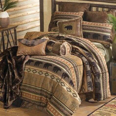 moose bedding canadian log homes rustic decorating