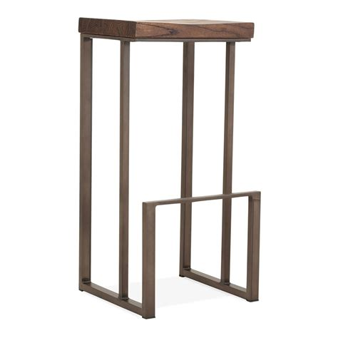 Square Metal Bar Stools by Rustic 76cm Sling Square Metal Bar Stool With Brown