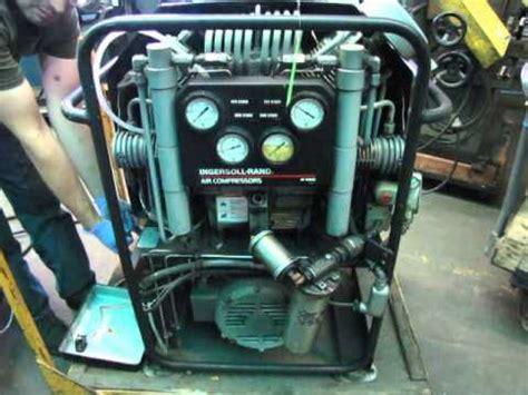 lot 0127 ingersoll rand hp1000 5000 psi scuba tank electric air compressor