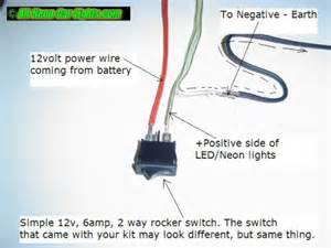 How To Wire Led Lights To A Switch by How To Install Interior Car Lights Neon And Led