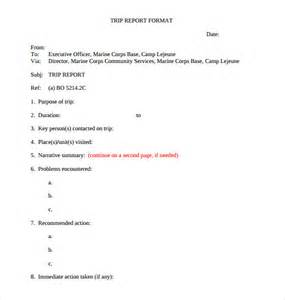 sample trip report template 12 documents in pdf