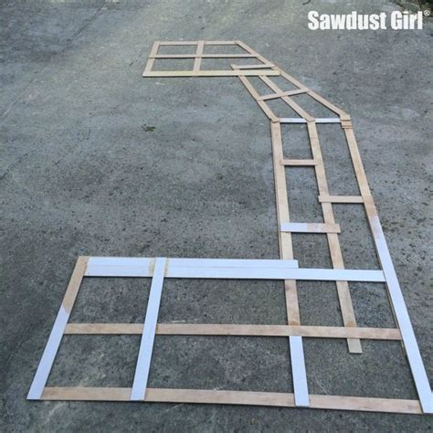 how to make a countertop template sawdust girl 174