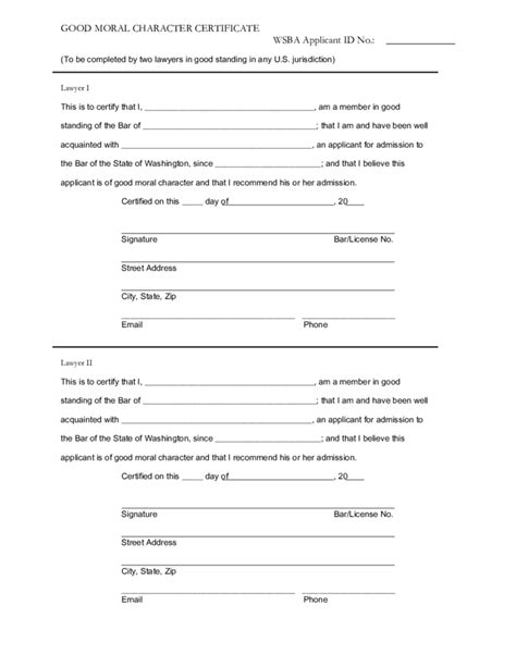 Worksheet For Letter About Moral Character Moral Character Letter For Employee Moral Character Certificate Free