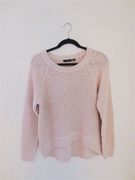 pink knit sweater baby pink waffle knit sweater on storenvy