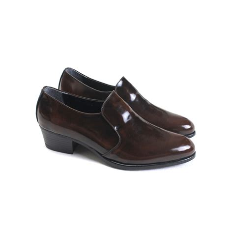 loafer high heels s brown cow leather high heel loafers