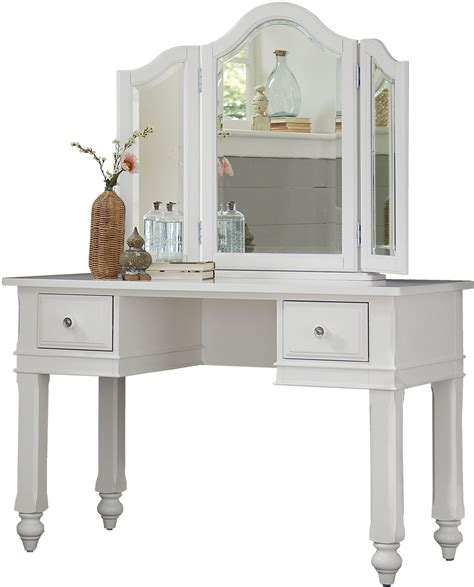 white desk mirror lake house white writing desk with vanity mirror 1540ndv