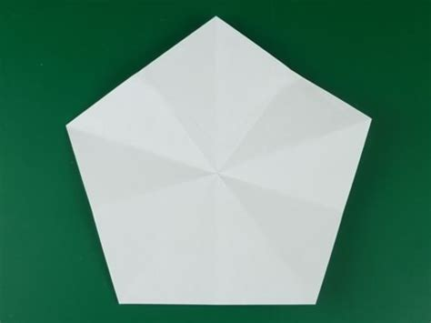 Origami Pentagon - folding 5 pointed origami ornaments