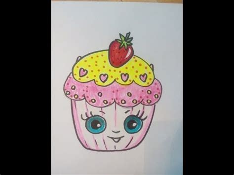 kuchen malen ein kleiner kuchen cupcake malen lernen kawaii bilder