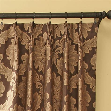 pleated curtains and drapes darby damask pinch pleat curtain pair drapes
