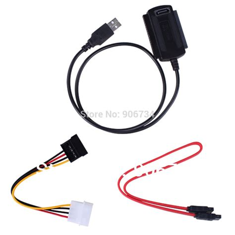 Usb 2 0 To Sata Ide Cable new arrival sata pata ide drive to usb 2 0 adapter converter cable for 2 5 3 5 inch drive