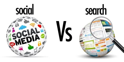 Media Search Search Engine Marketing Vs Social Media Marketing