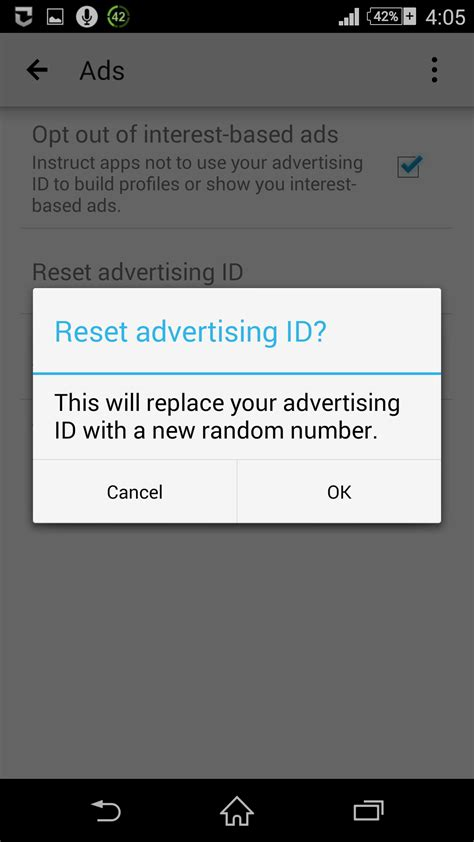 reset android id how to reset google advertising id on android android