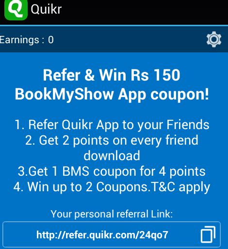 bookmyshow discount coupons bookmyshow refer earn 2500 rs bms vouchers spycoupon