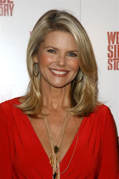 colleen christy chopped hairstyle christie brinkley medium straight cut my hair style and
