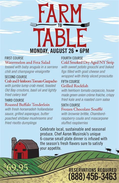 Farmers Table Menu by Farm To Table Dinner August 26 2013 S2t Dinner