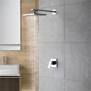 chrome wall mount single handle shower faucet