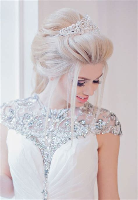 Wedding Hairstyles For Medium Hair With Tiara by 65 Best Tiara Hairstyles Images On Weddings