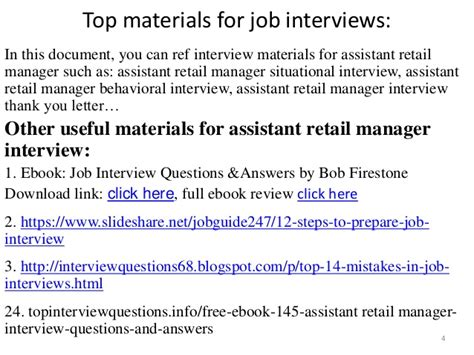 top 36 assistant retail manager questions and