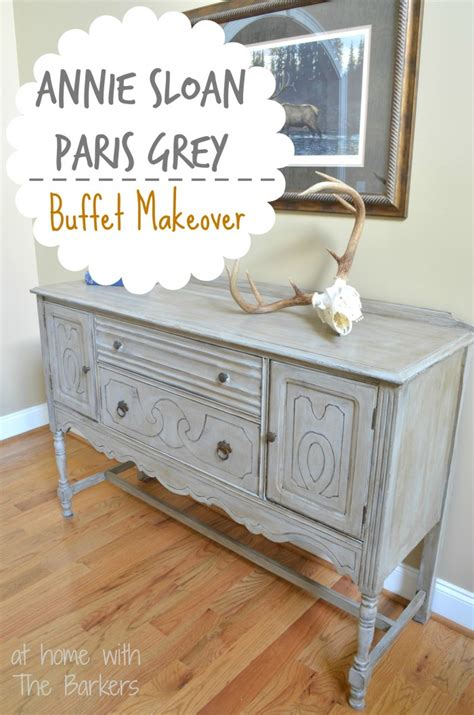 Annie Sloan Chalk Painted Kitchen Cabinets Paris Grey Buffet Table At Home With The Barkers