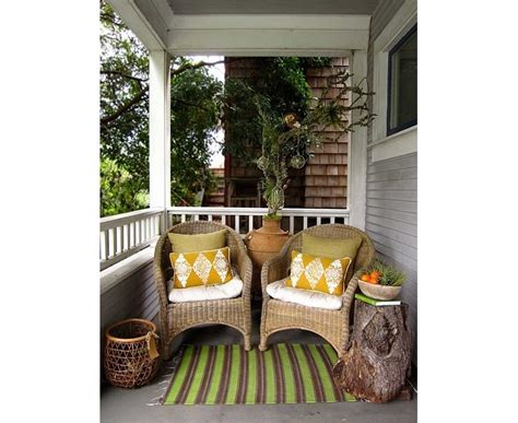 Front Porch Table Cool Small Front Porch Design With Tree Stump Side Table