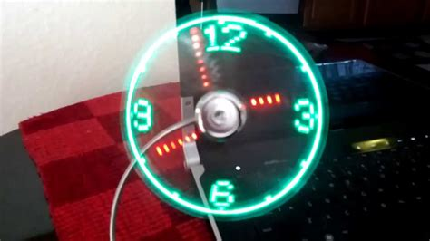 Cool Desk Fans Usb Led Clock Fan Review Youtube