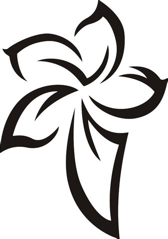 gambar tato tribal bunga   clip art