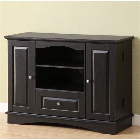 bedroom media storage walker edison 42 quot bedroom console w media storage black tv